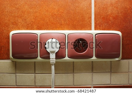 Sockets and switches - stock photo