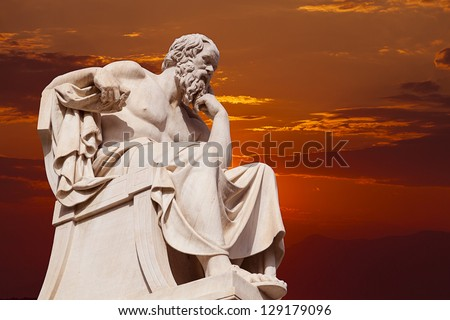Socrates,one of the greatest Ancient Greek philoshophers - stock photo