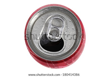 Soda can on white background