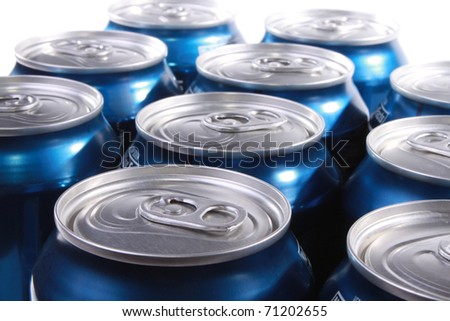 Soda cans - stock photo
