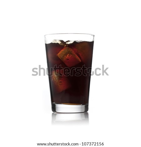 Soda glass - stock photo