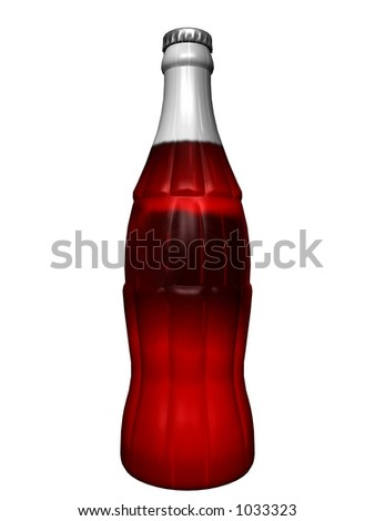 Soda in bottle - stock photo