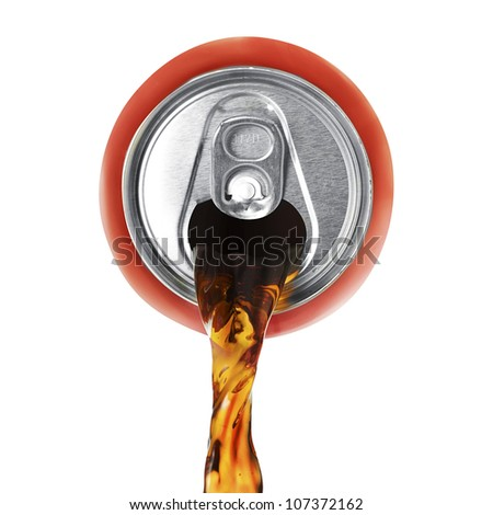 Soda pour - stock photo