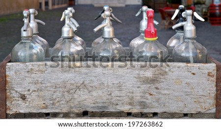 soda siphons                               - stock photo