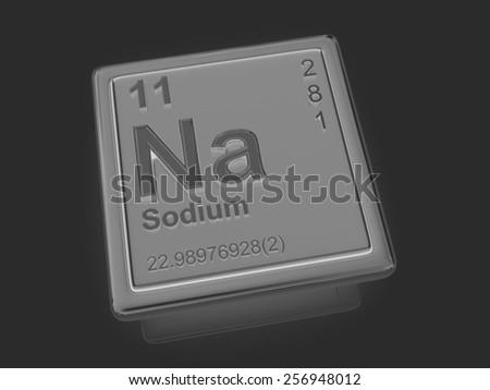 Sodium. Chemical element. 3d - stock photo