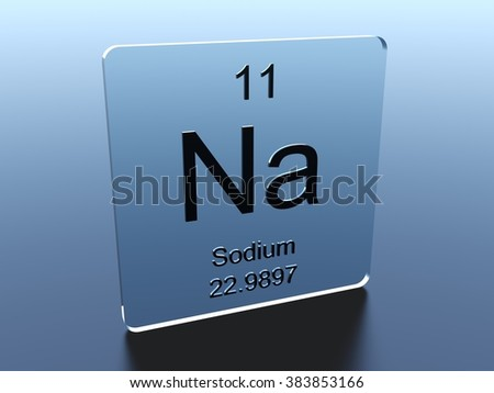 Sodium symbol on a glass square - stock photo