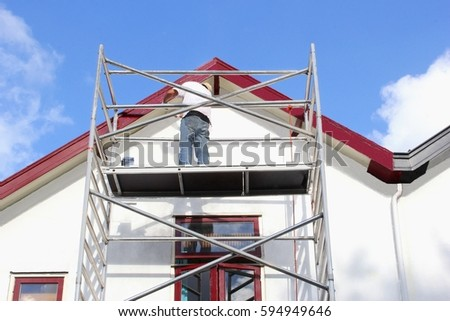 exterior painting stock images, royalty-free images & vectors