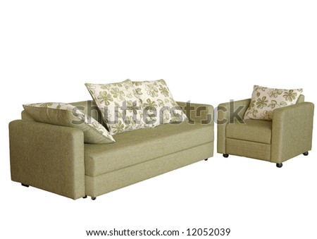 Sofa and chair - stock photo