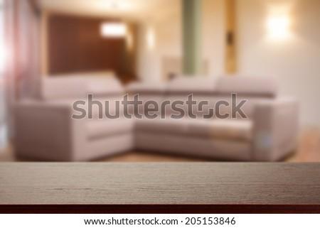 sofa and desk  - stock photo