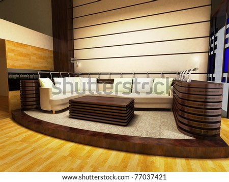 Sofa area of a modern living room - stock photo