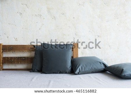 Sofa chair and pillow decorate for relax.