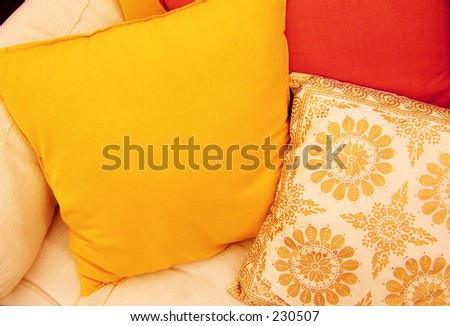 sofa cushions - stock photo