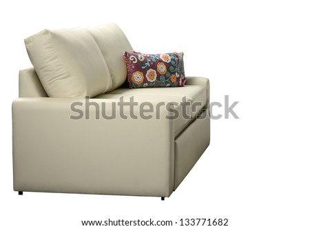 Sofa. Isolated - stock photo