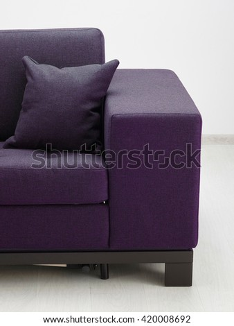 Sofa isolated in room. - stock photo