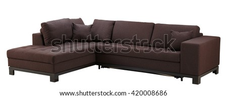 Sofa isolated on white background. Include clipping path.