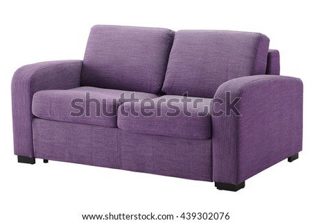 Sofa isolated on white. Include clipping path
