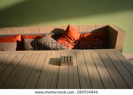 Sofa pillow - decoration interior - stock photo