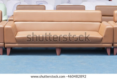 sofa Placed outdoors in the daytime