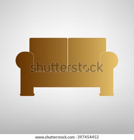 Sofa Repair Line Icon Upholstered Furniture Stock Vector