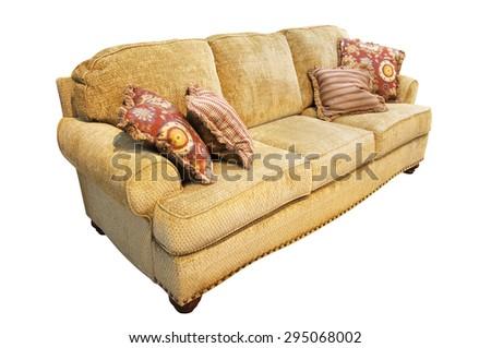 sofa under the white background - stock photo