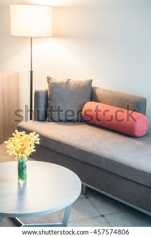 Sofa with light lamp decoration interior of room