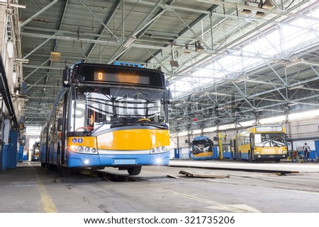 sofia bulgaria september 18 2015 trolley car in the tram depot in