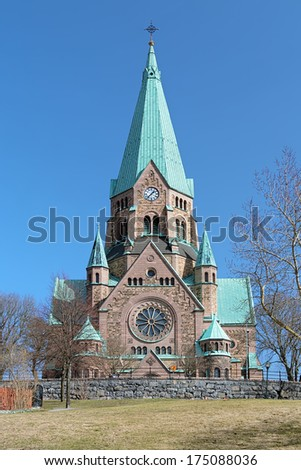 Sofia Church in Stockholm, Sweden - stock photo