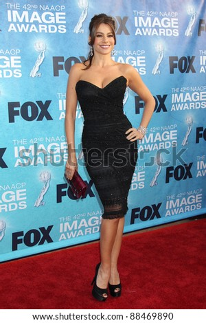 Sofia Vergara at the 42nd NAACP IMage Awards at the Shrine Auditorium in Los Angeles. March 4, 2011  Los Angeles, CA Picture: Paul Smith / Featureflash