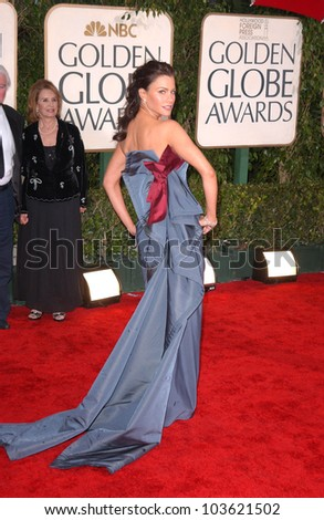 Sofia Vergara at the 67th Annual Golden Globe Awards, Beverly Hilton Hotel, Beverly Hills, CA. 01-17-10 - stock photo