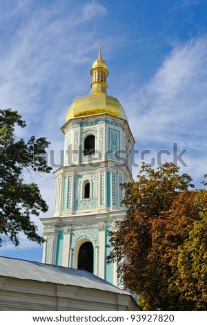 sofiya church in kiev ujraine - stock photo