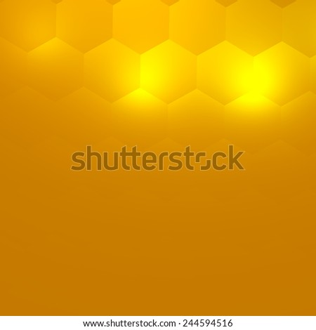 Soft Abstract Background for Your Design - Bright Yellow Light - Simple Business Card Template - Electric Lighting Effect - Modern Illustration Concept - Generative Art - Copy Space Below - Stage - stock photo