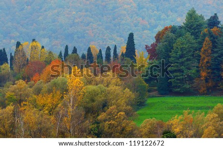 Soft Autumn Landscape - stock photo