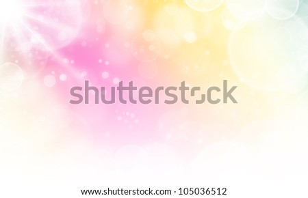 soft background abstract texture with lights bokeh and stars - stock photo