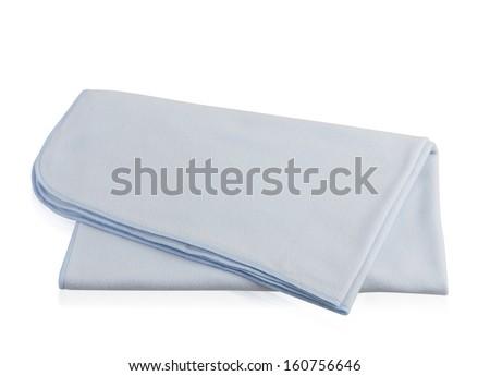 soft blanket isolated on white background - stock photo