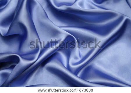 Soft blue satin - stock photo