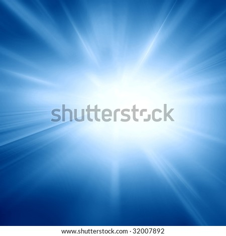soft blue sky with bright sun in it