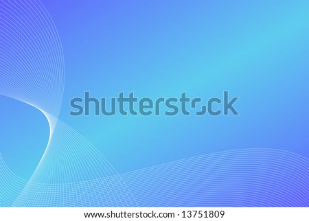 Soft blue waves as perfect background - stock photo