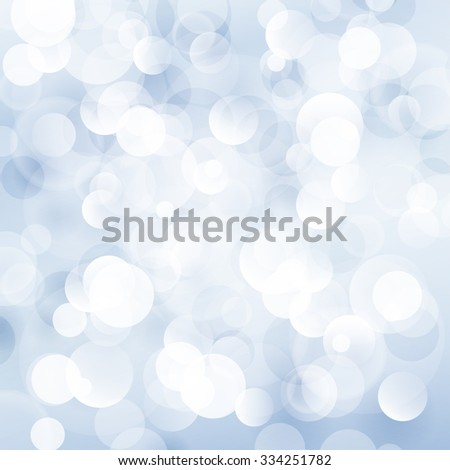 Soft  Bright Abstract Bokeh Background  in Shades of Blue,  Soft Glow of the Sun , Defocused Lights