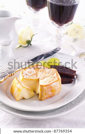 Soft cheese with washed rind