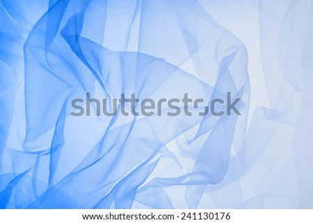 soft  chiffon with curve and wave - stock photo