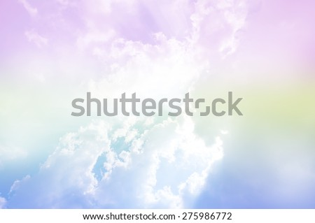 soft cloud background with a pastel multi-colored gradient - stock photo