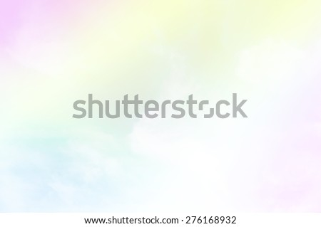 soft cloud background with a pastel multicolored - stock photo
