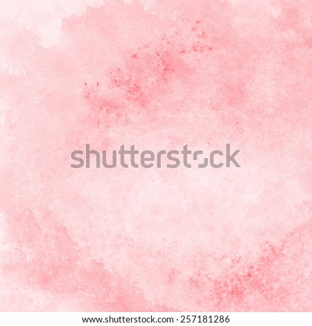 soft coral red watercolor texture background, hand painted - stock photo