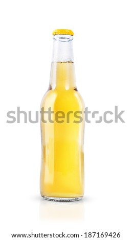 Soft Drink bottle isolated on white - stock photo