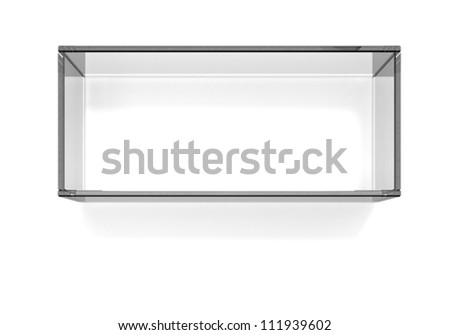 Soft easy bevel snow with shadow - stock photo