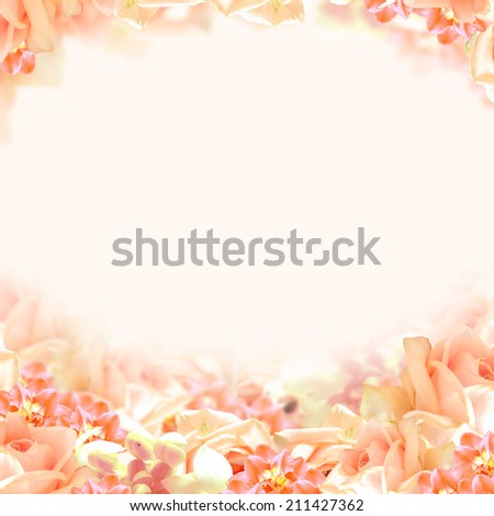 Soft Floral Background - stock photo