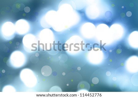 Soft focus circles. Blue abstract background. - stock photo