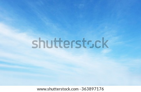 Soft focus clouds sky background. Blue sky white sunlight day time background. - stock photo