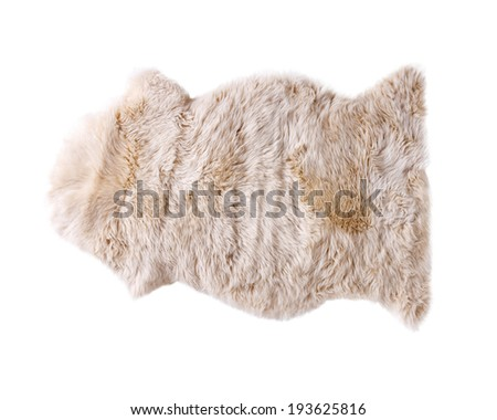 soft fur carpet isolated on white background - stock photo