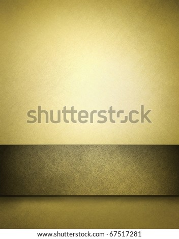 soft golden brown parchment background with slight grunge texture, slight olive green tone,  ribbon stripe, highlight spot and copy space design layout to add your own text, image, title, or picture - stock photo